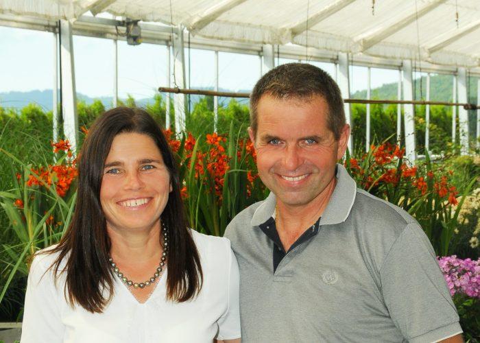 Christine und Harald Maissen - Geschäftsführer der Gärtnerei Maissen in Koblach, Vorarlberg